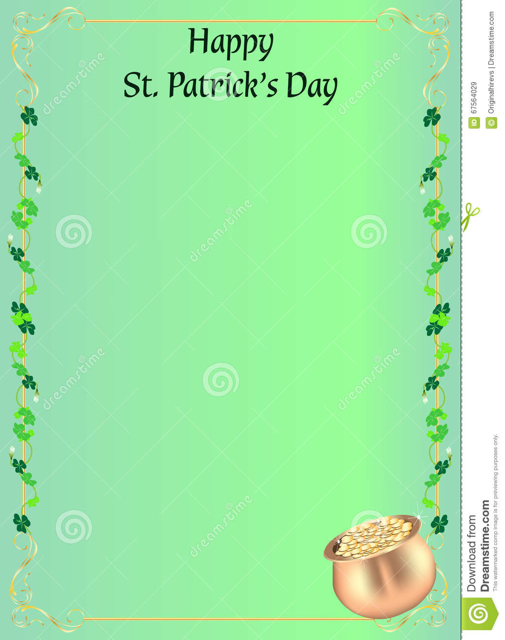 st patrick s day invitation or menu stock vector illustration of