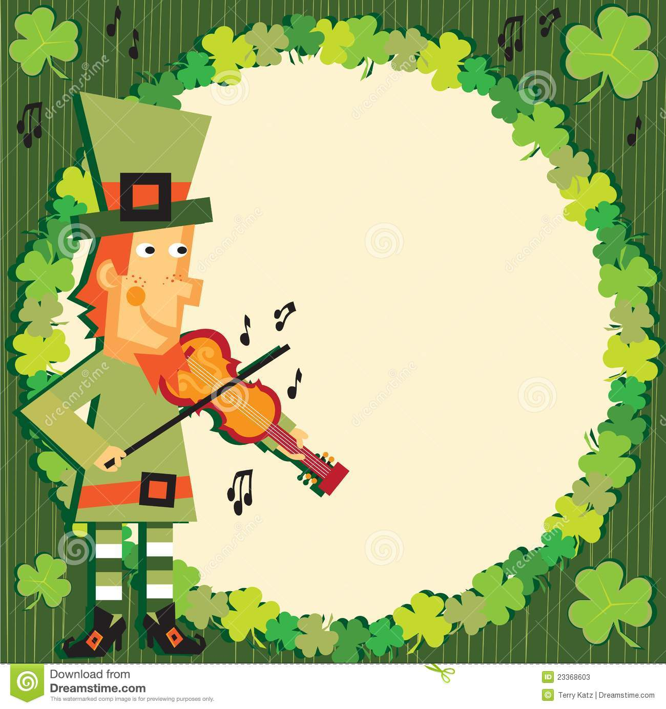 st patrick s day party leprechaun invitation stock vector