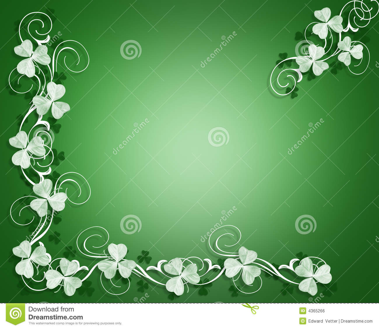3D Illustration for St Patrick's Day Card, background, border or frame ...