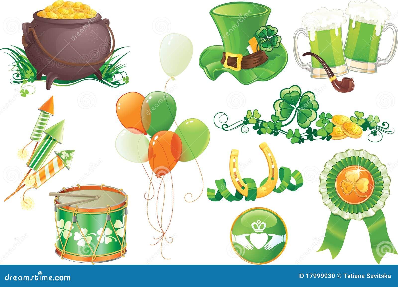 StPatricks Day Symbols Stock Photo Image 17999930