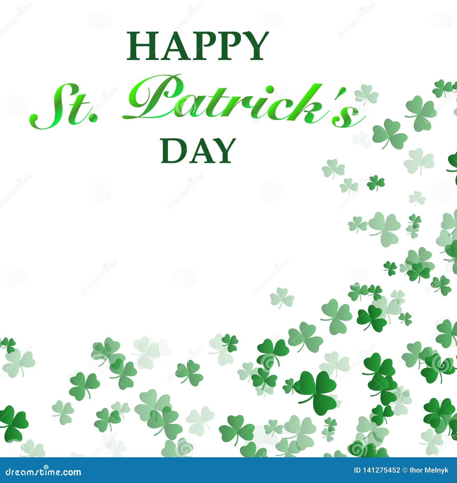 St Patrick `s de Achtergrond van de Dag