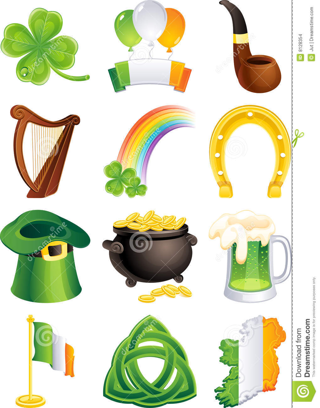 St. Patrick's Icon Stock Images - Image: 8128354