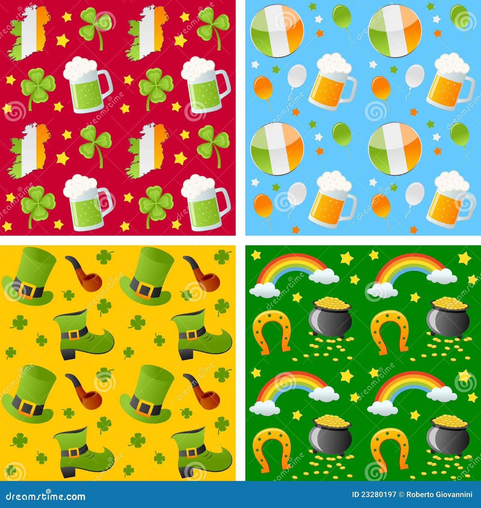 St. Patrick Seamless Patterns
