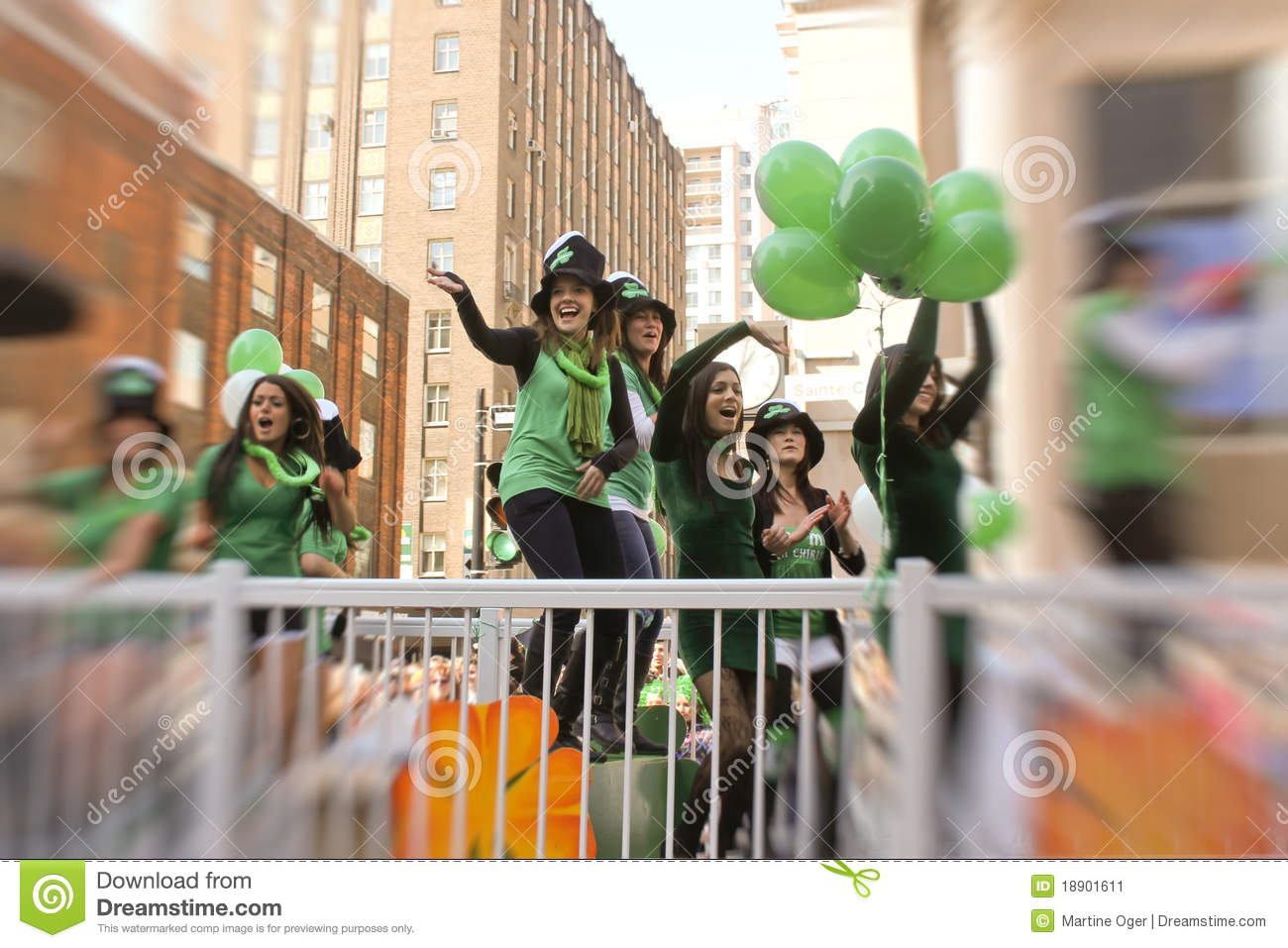 St.Patrick Tag in Montreal.