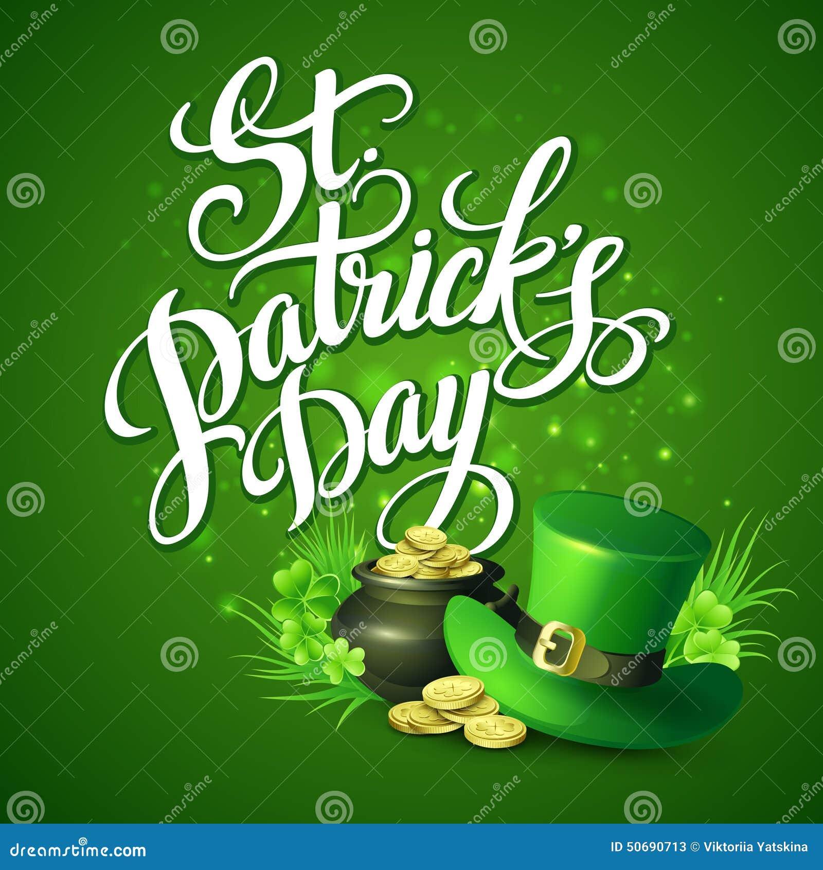 Download St Patricks天问候 也corel凹道例证向量 向量例证 - 插画 包括有 例证, 庆祝: 50690713