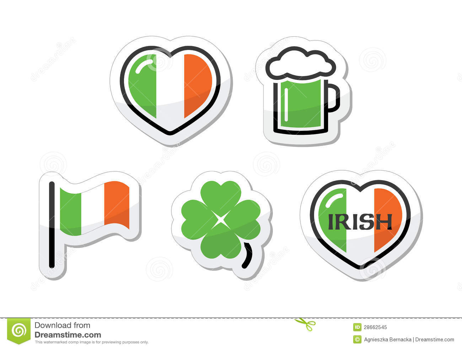 st patricks日图标-爱尔兰标志,三叶草,绿色啤酒图片