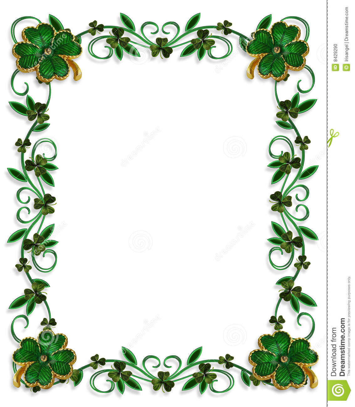 FREE St. Patrick's Day Printable Writing Paper with Clover ... |St Patricks Border