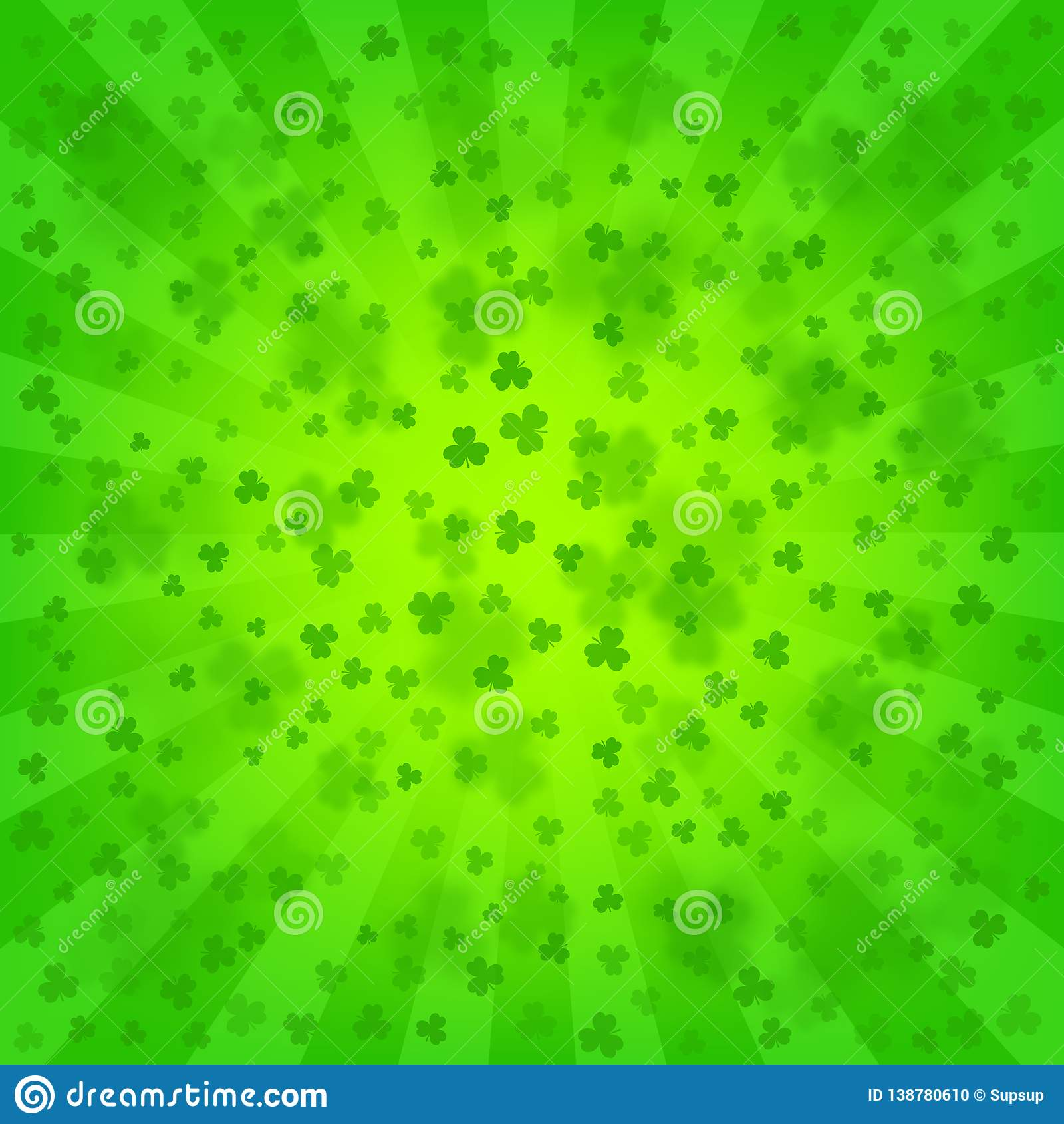 St Patricks Day Bright Background Stock Vector