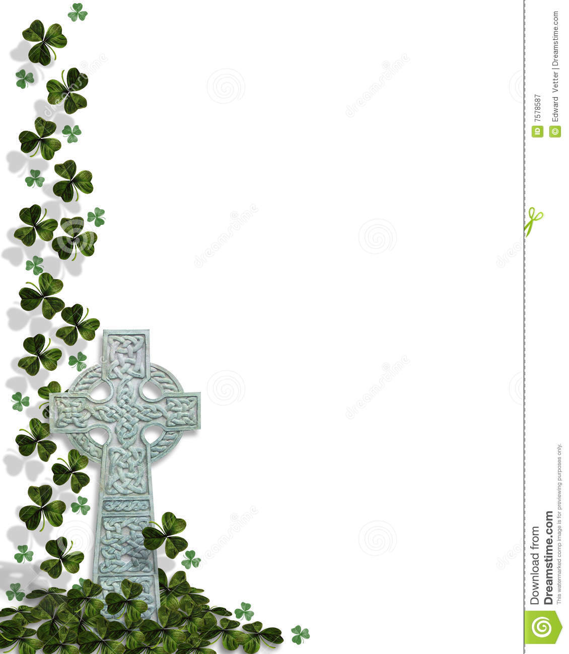 photograph relating to St Patrick's Day Cards Free Printable known as St Patricks Working day Celtic Cross Border Inventory Case in point