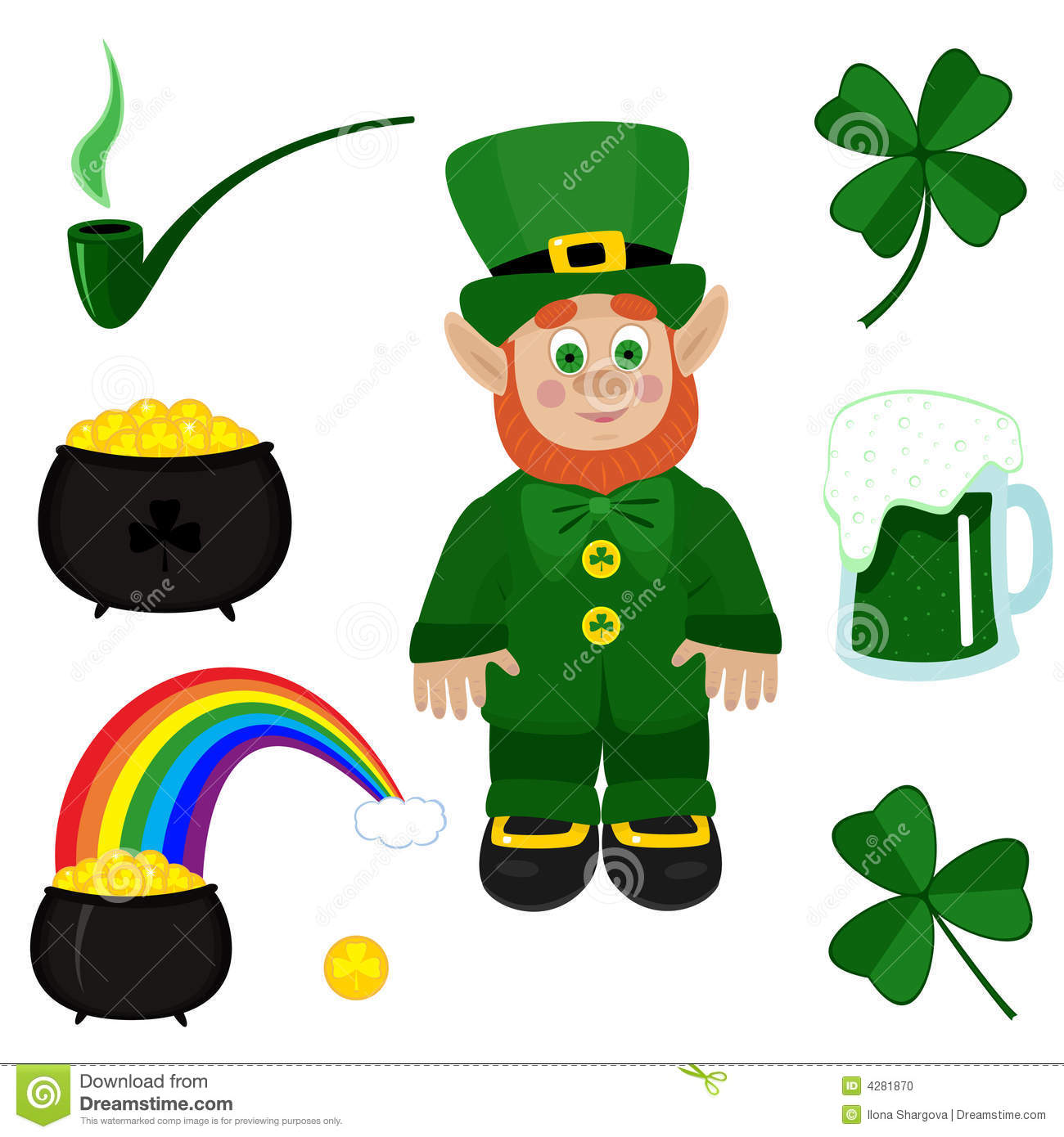 St. Patricks Day Clip-art Stock Photo - Image: 4281870