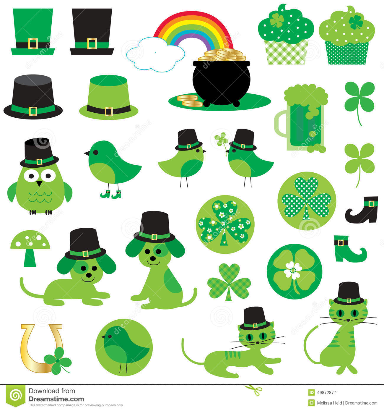 St Patricks Day Clipart Stock Illustration - Image: 49872877
