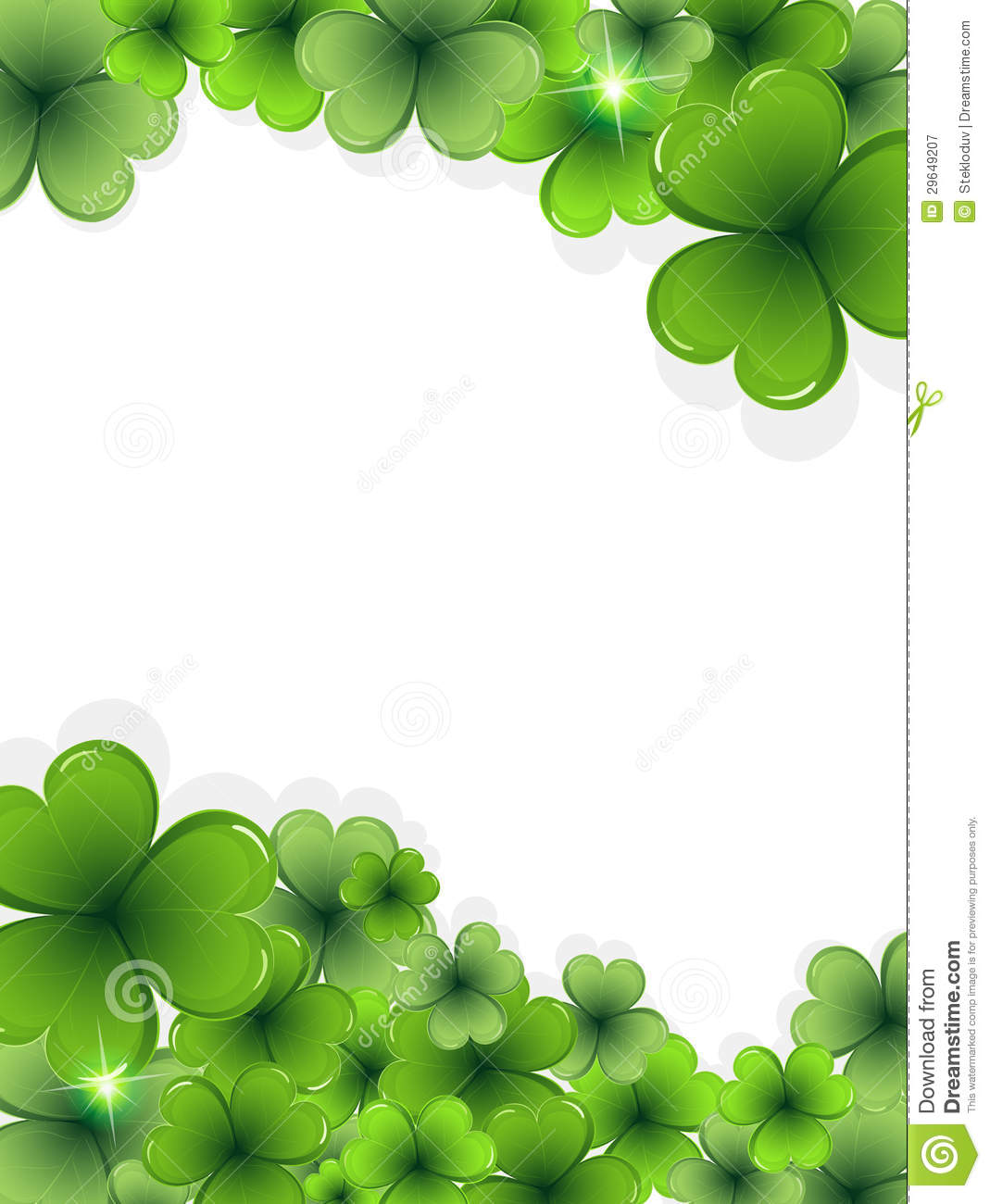St. Patricks Day Clover Frame Royalty Free Stock Photography - Image ...