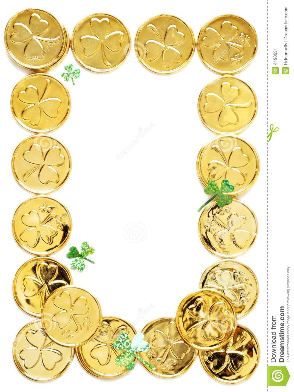 St Patricks Day Coins Stock Image - Image: 4190631