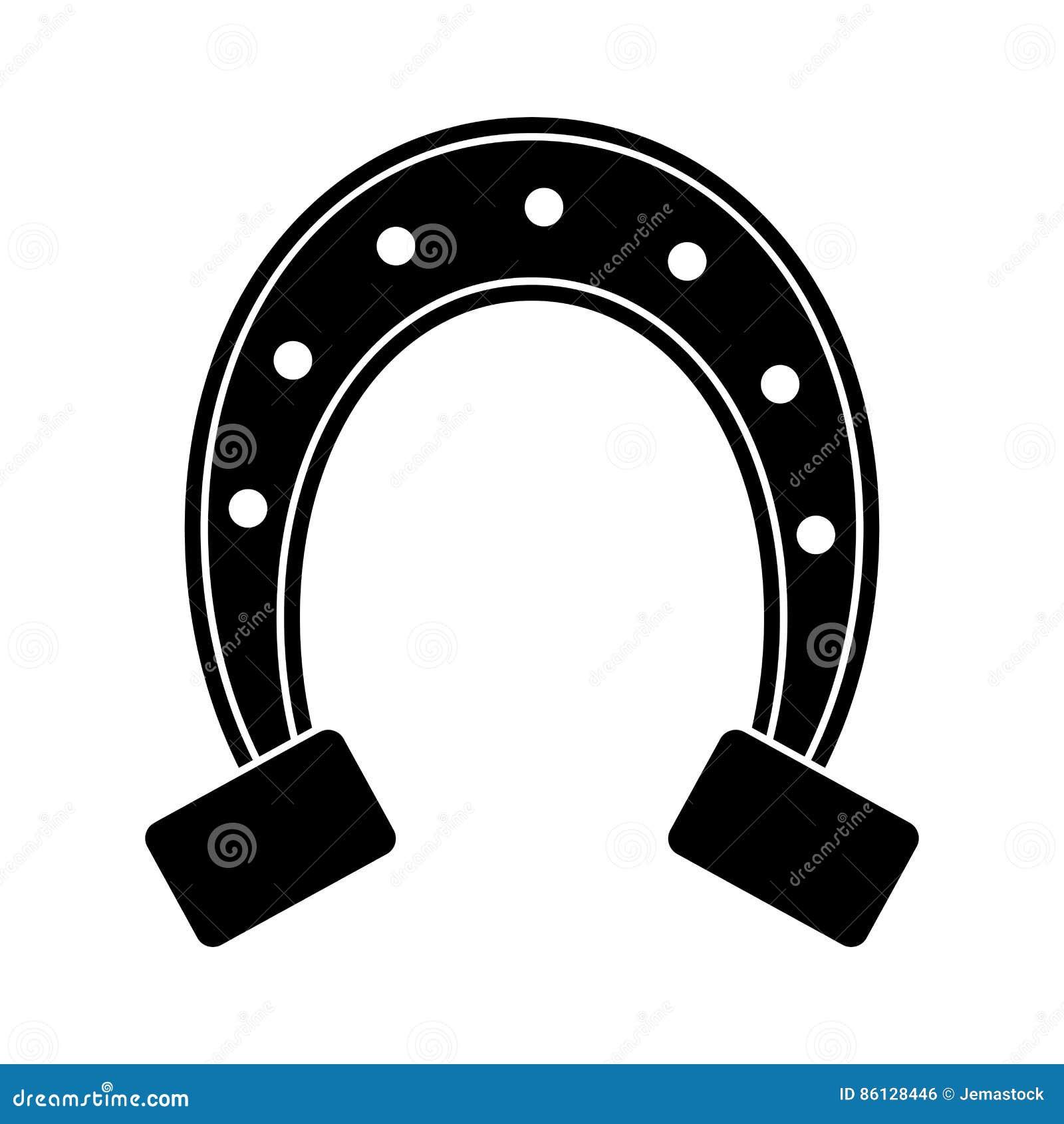 St patricks day horseshoe symbol pictogram