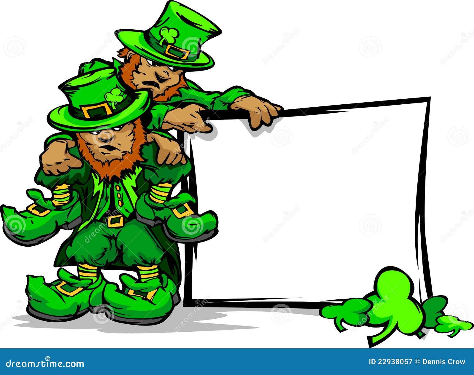 Free Stock Photography St Patricks Day Leprechauns Holding Sign