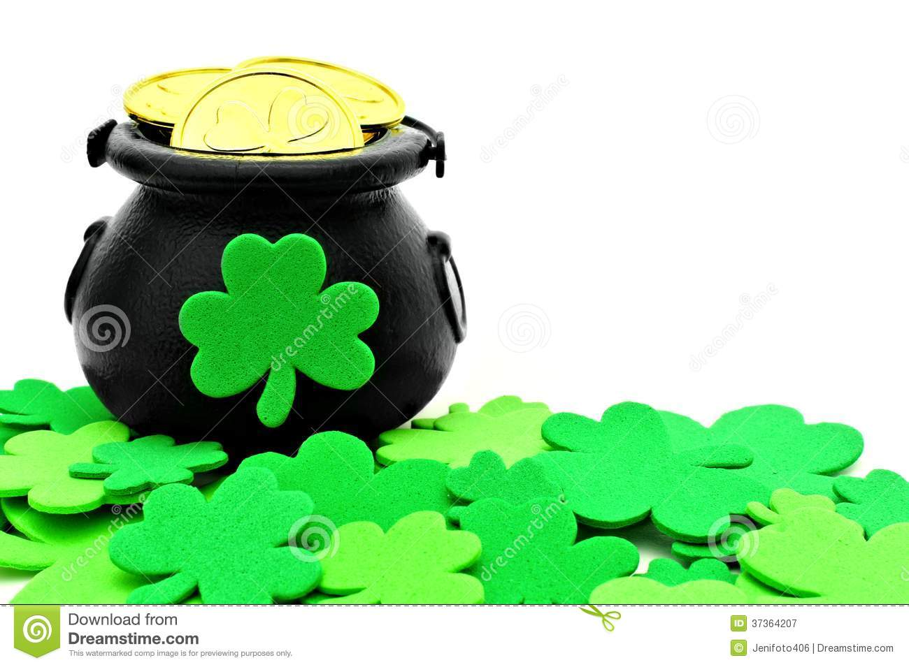 St Patricks Day Pot Of Gold Stock Image