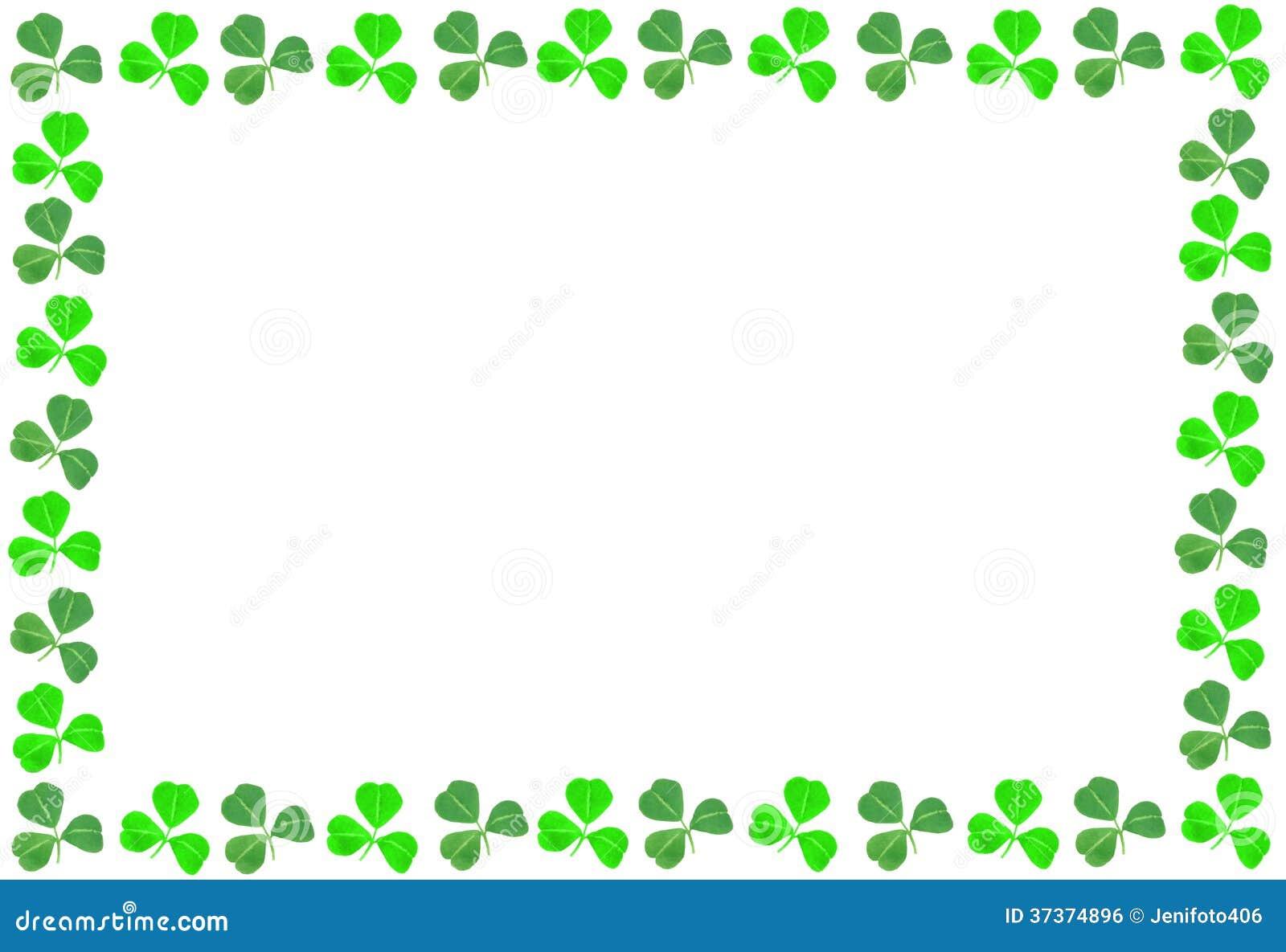 St Patricks Day Shamrock Frame Royalty Free Stock Image
