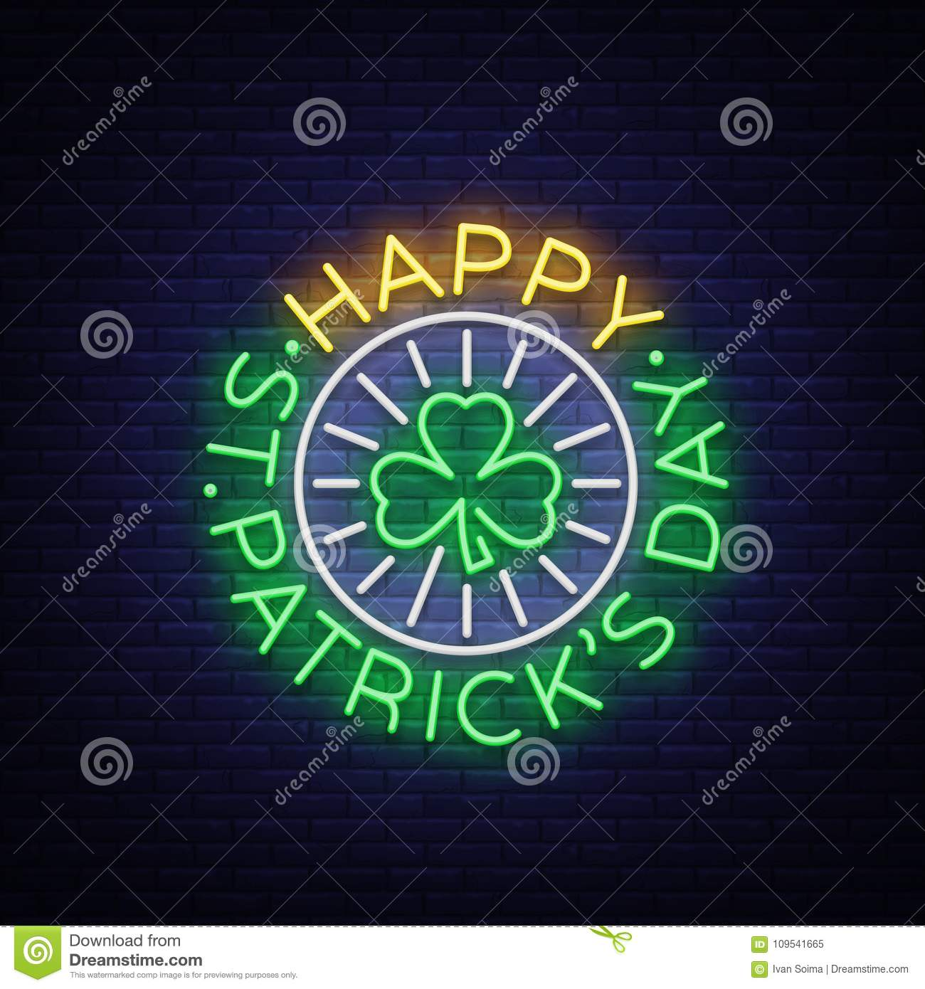 St patricks day vector neon sign logo invitation symbol greeting download st patricks day vector neon sign logo invitation symbol greeting card stopboris Image collections