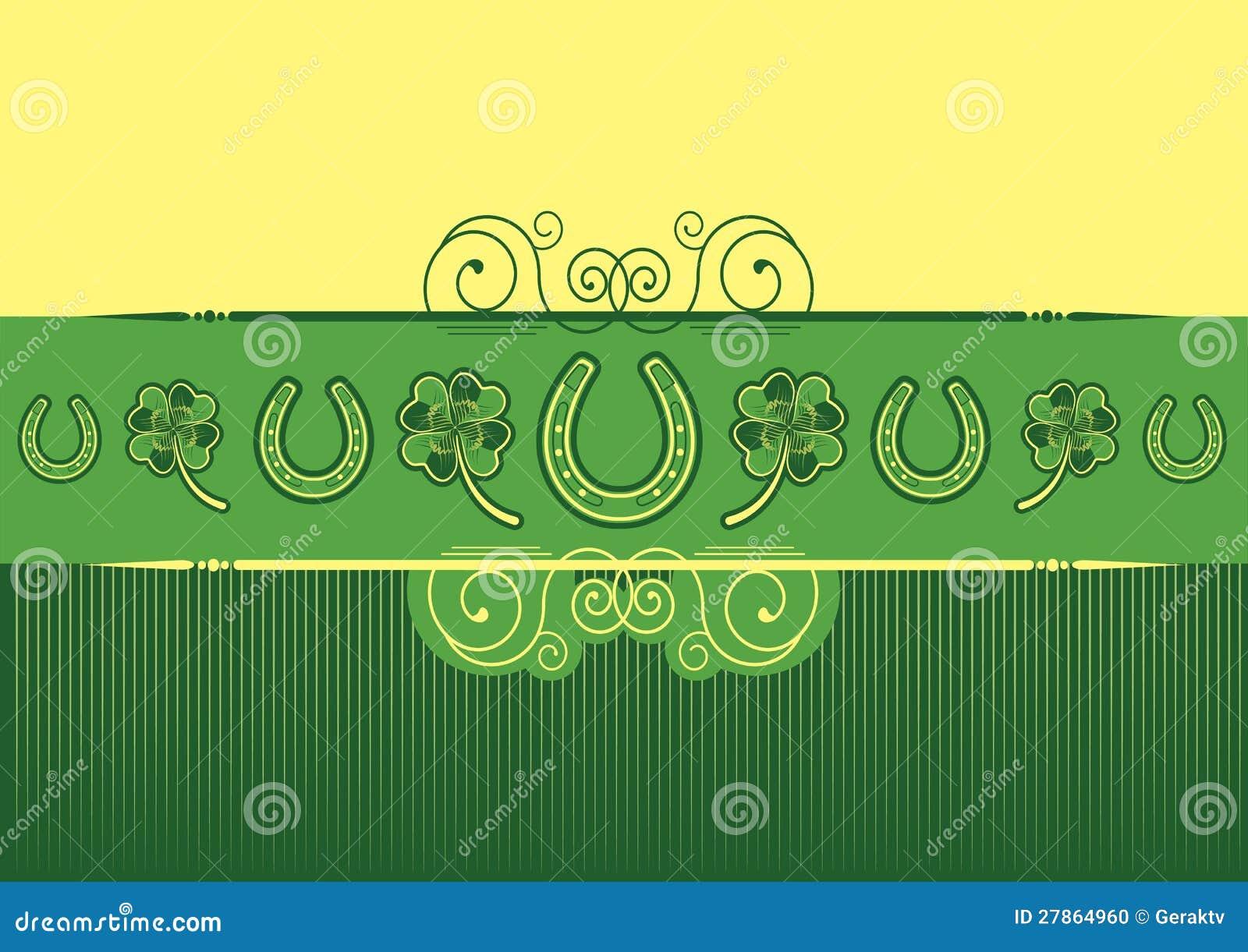 St. Patricks dnia abstrakta tło