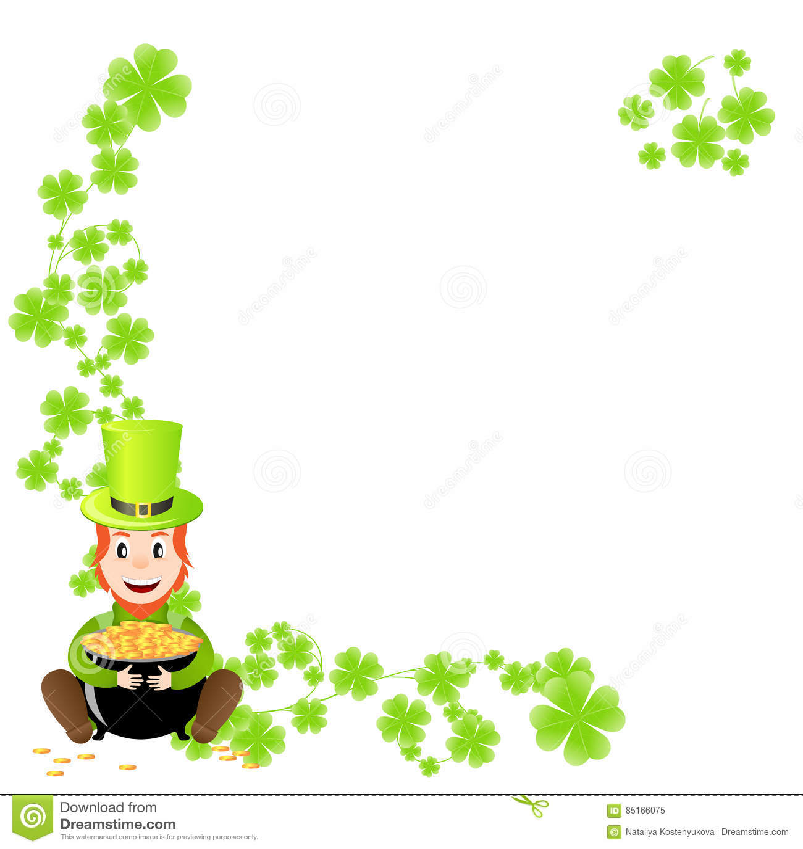 Pot Of Gold Template | St Patricks Template Stock Vector Illustration Of Illustration