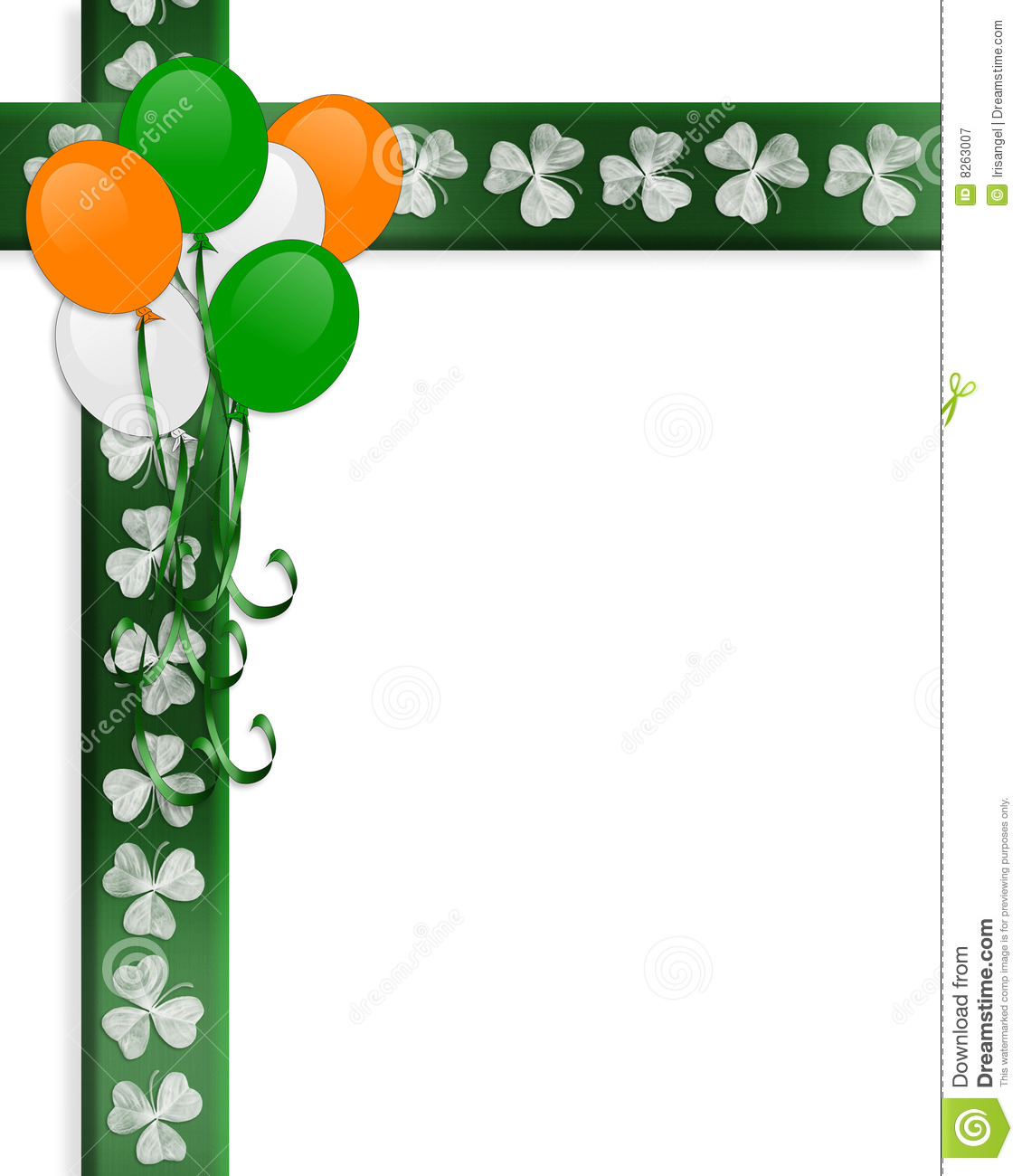 St Pattys Day Irish Border Balloons Royalty Free Stock ...