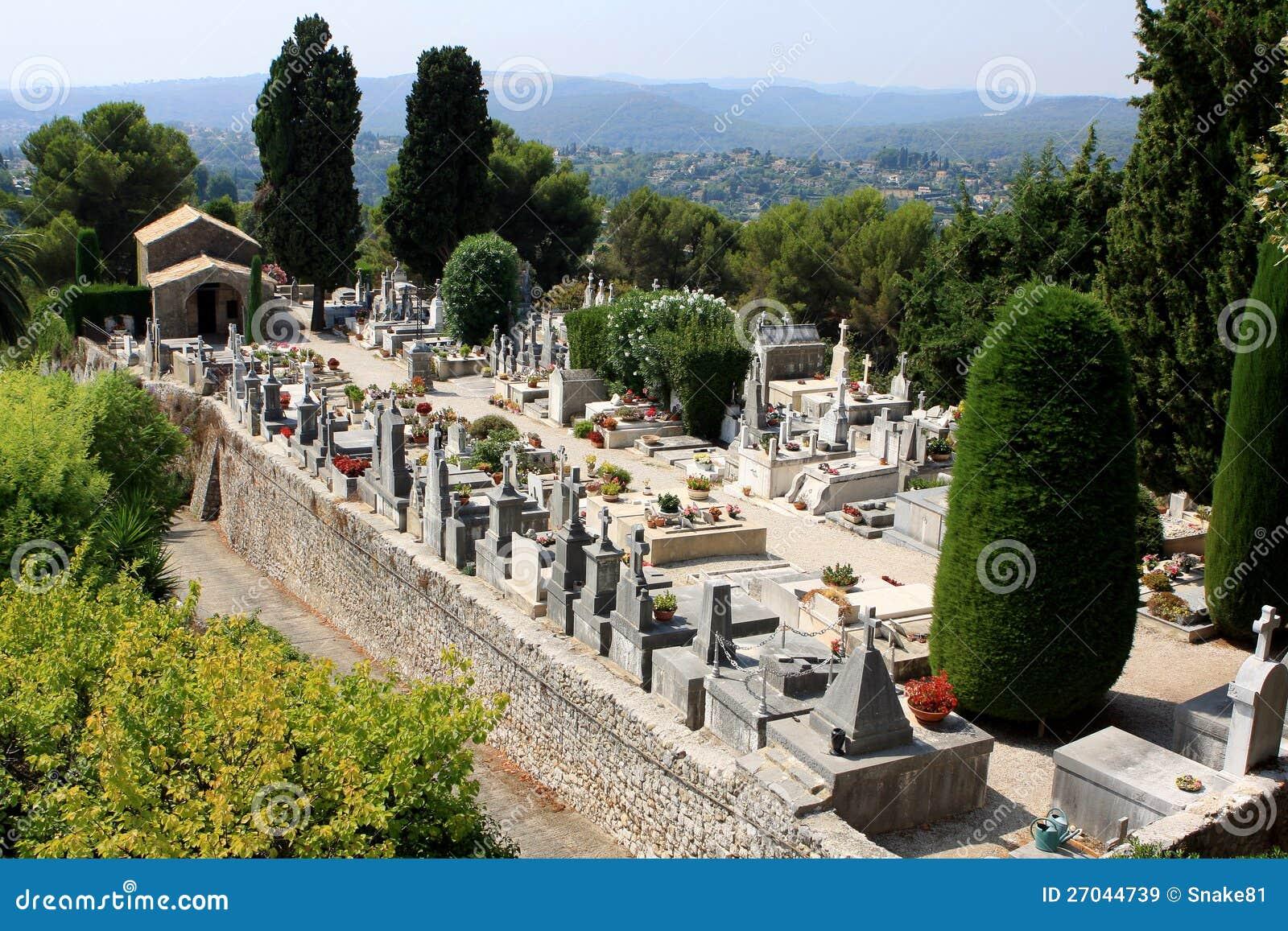 St paul de vence cemetery france stock image image of for Chagall st paul de vence