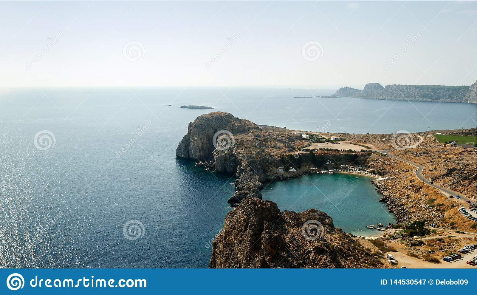 St. Paul`s Bay and the Mediterranean sea, Greece