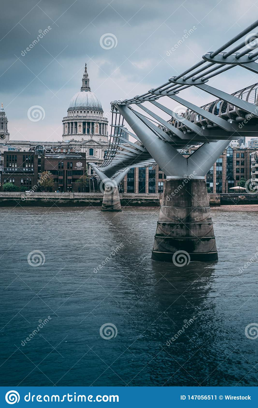 St. Paul`s Cathedral bridge of London