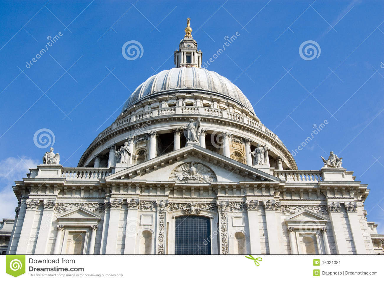 St Paul's Cathedral, Southern Facade. Stock Image - Image ...