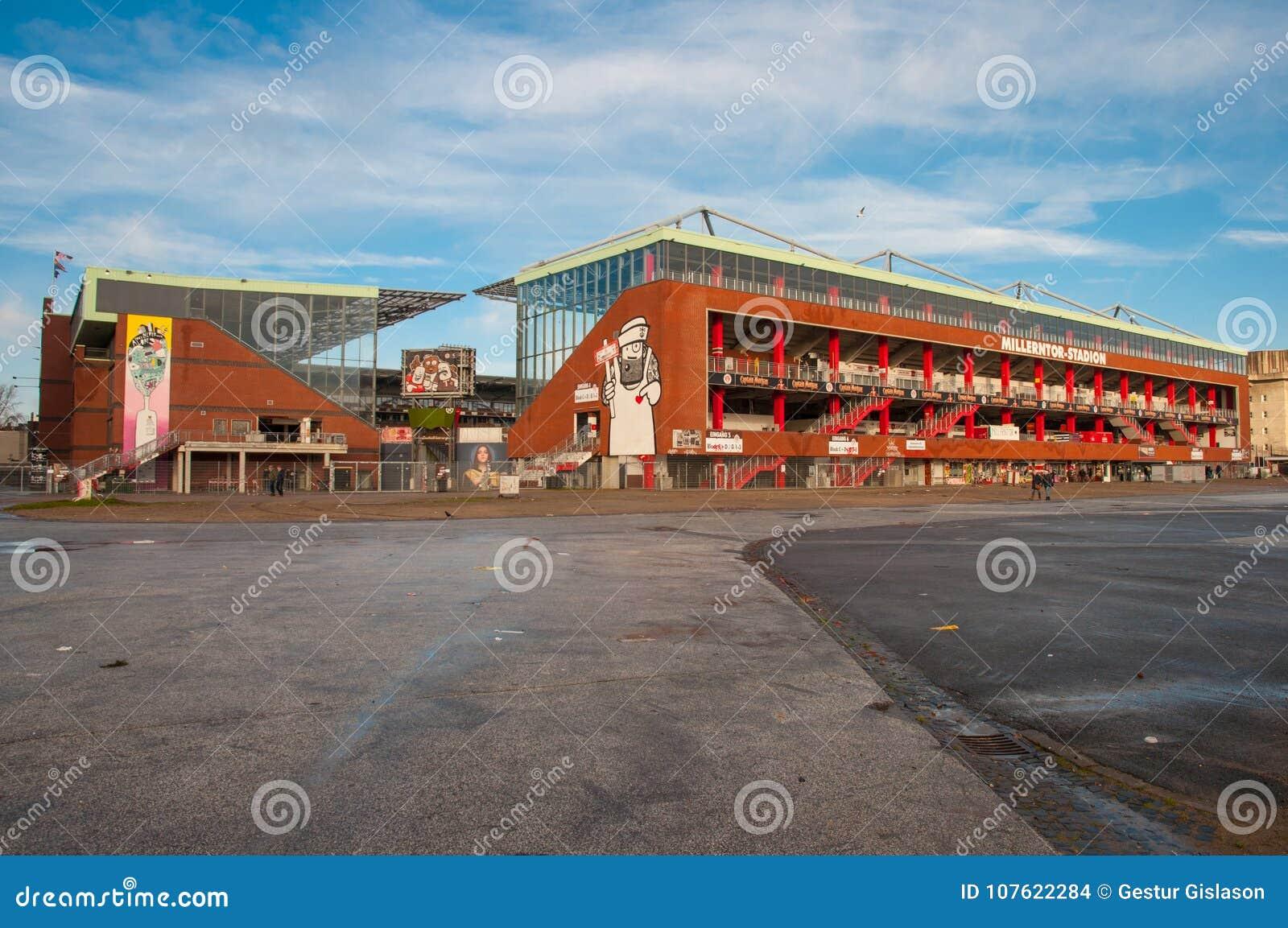 St Pauli arena w Hamburskim Niemcy