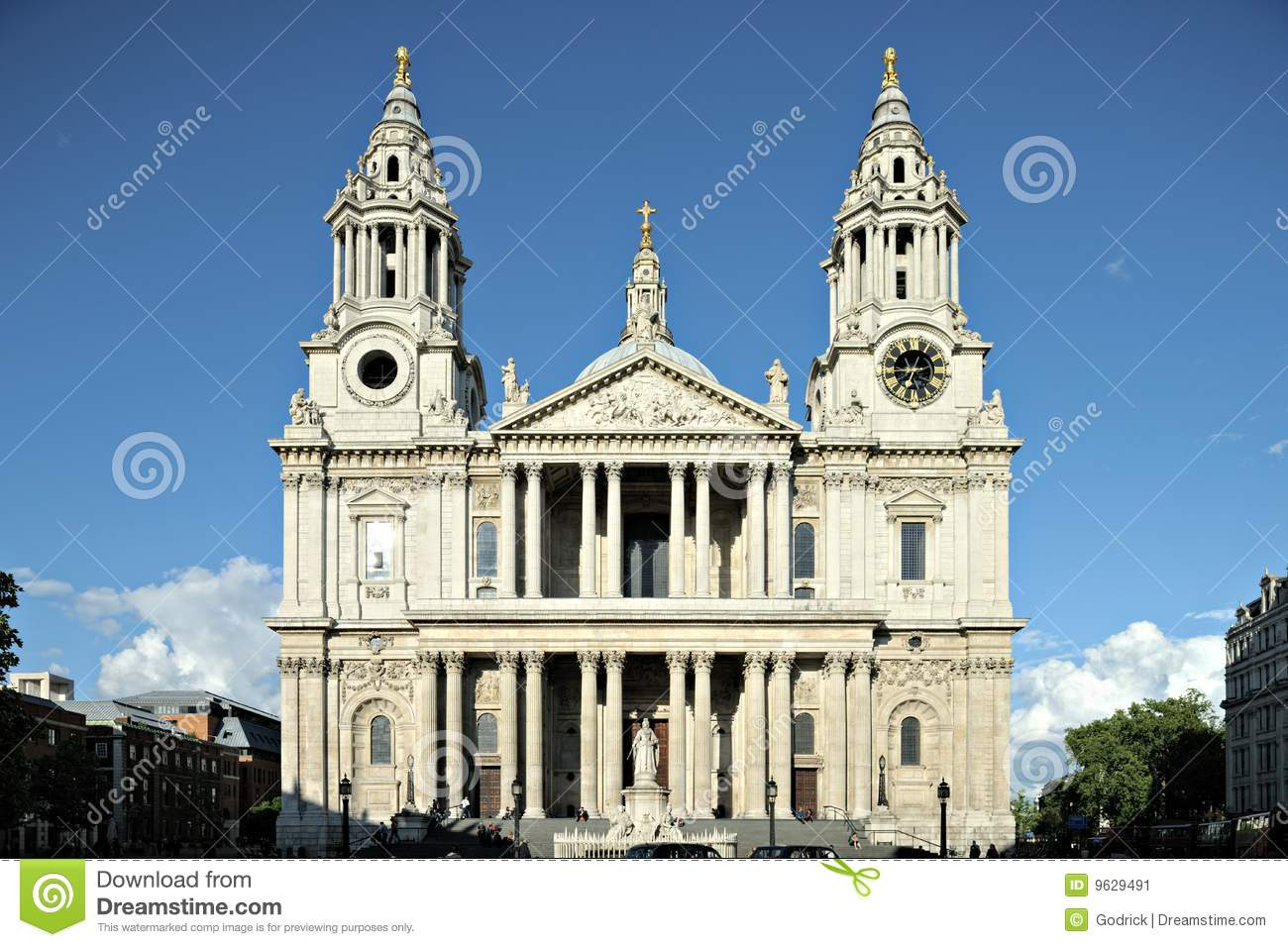 St Pauls Cathdral Facade London England UK Stock Image ...