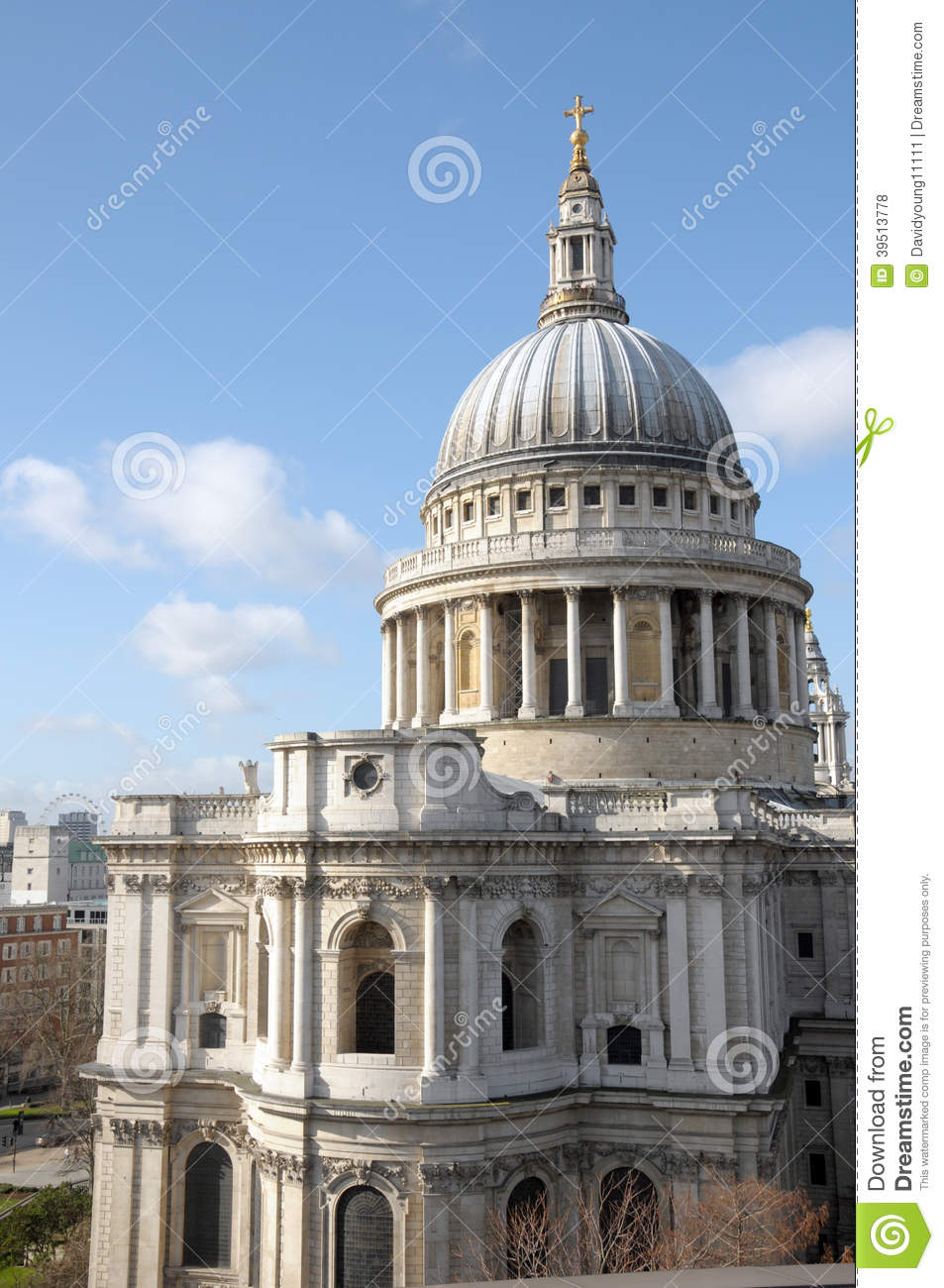 St Pauls Cathedral from rooftop viewing platform