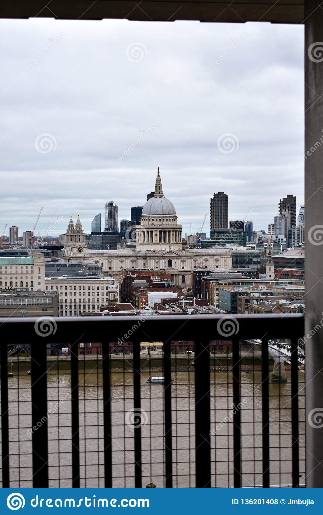 St Pauls Cathedral And Thames River From Tate Modern Lookout