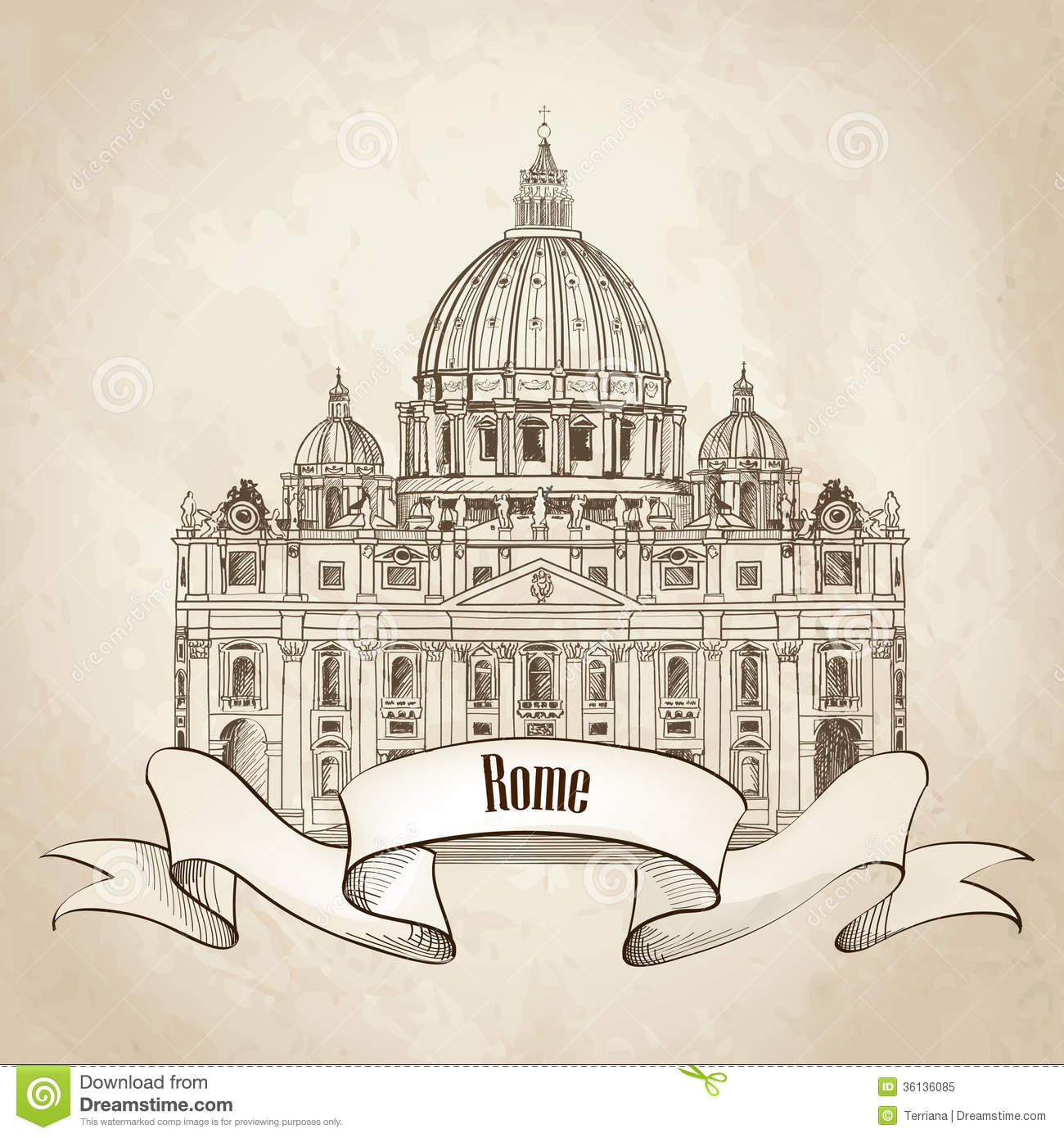 st  peter cathedral  rome  italy  famous landmark  travel