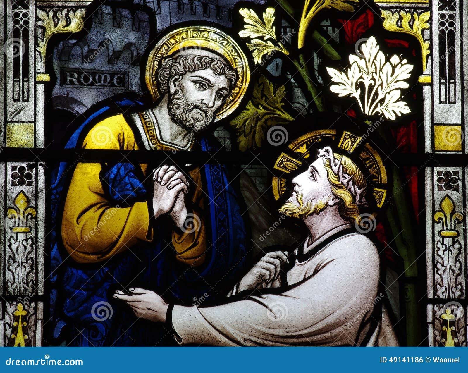 St Peter encontra Jesus (o vitral)