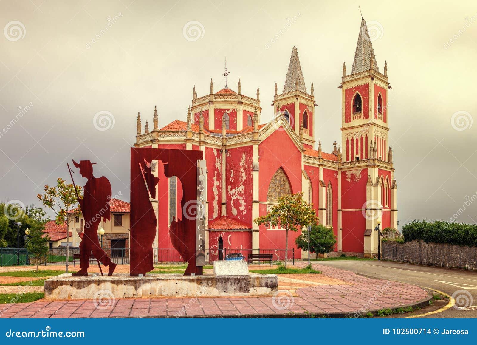St Peter na Cobreces farnym kościół, sposób St James, Cantabria