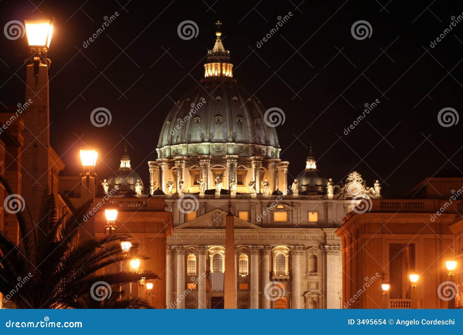 St. Peter (Rome-Italië) Nacht