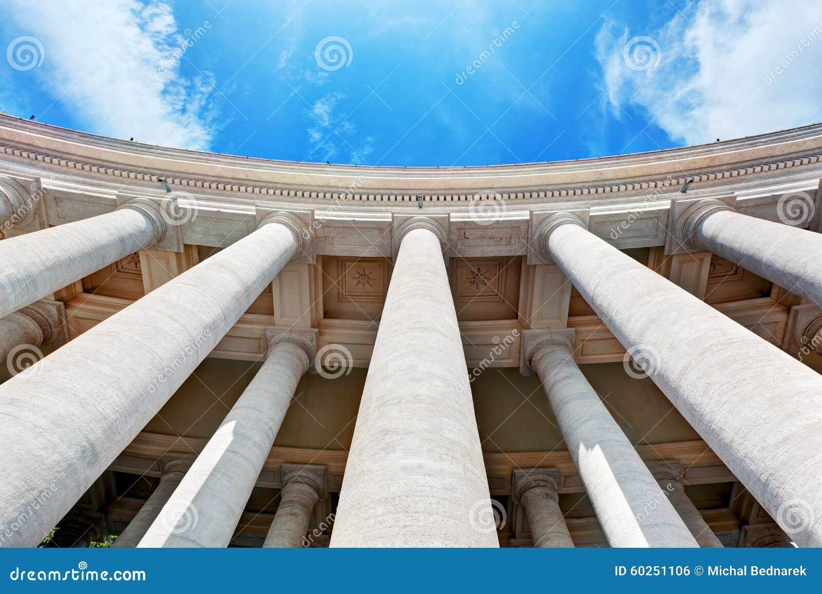 St. Peter s Basilica colonnades, columns in Vatican City.