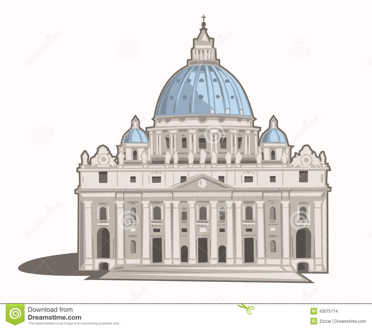 St. Peter's Basilica Stock Photo - Image: 43075714