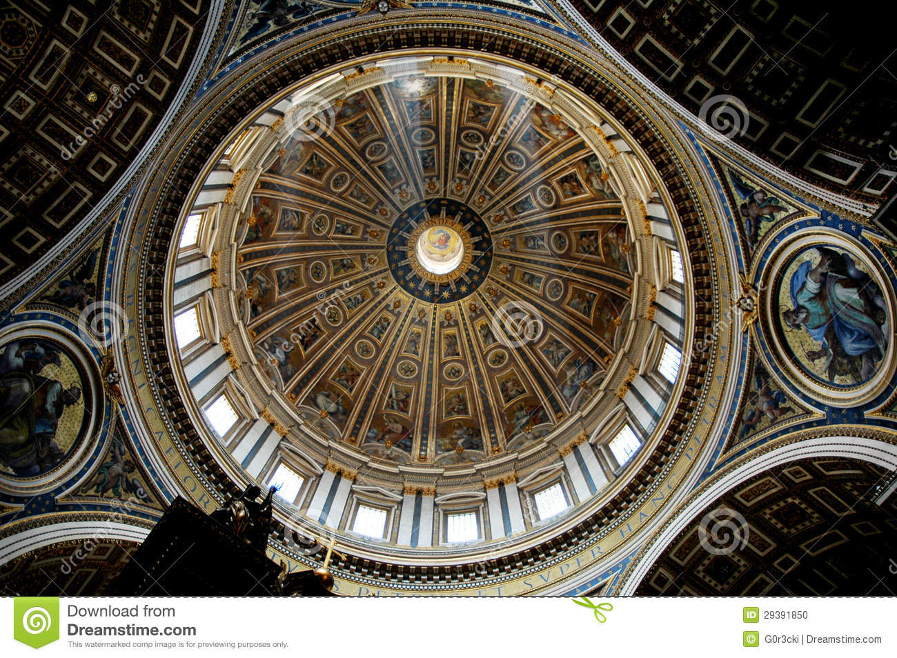 St. Peter Central Dome, Vatican, Rome