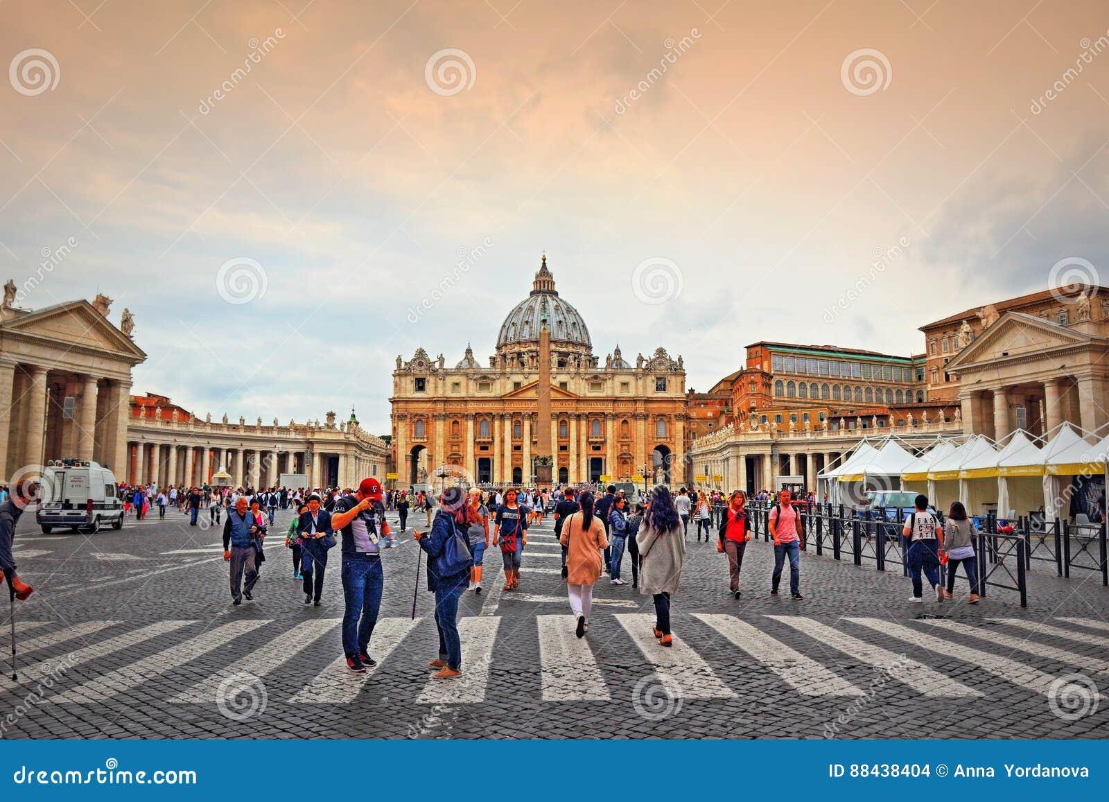 St Peter ` s kwadrat Watykański Rzym Włochy