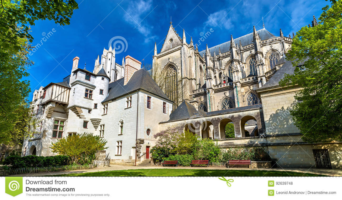 st peter and st paul cathedral of nantes france stock photo 92639748. Black Bedroom Furniture Sets. Home Design Ideas
