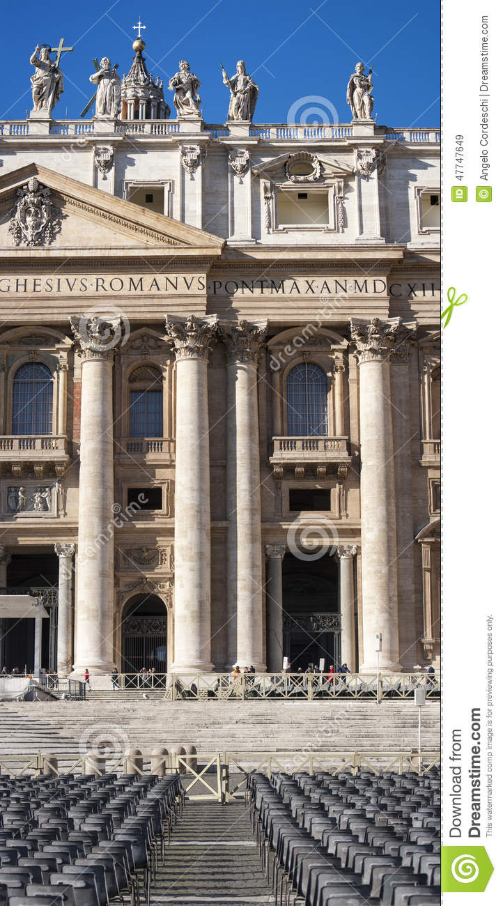 St. Peter (Vatican City, Rome - Italy), vertical panorama section