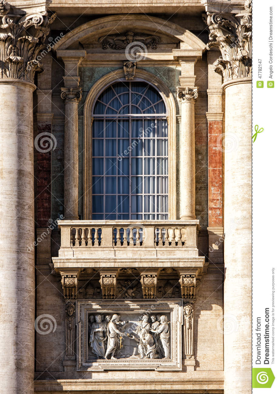 St peter vatican city rome italy window and balcony for Balcony window