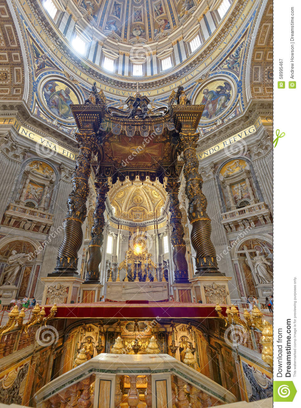 Vatican City, Italy: St. Peters Basilica Editorial
