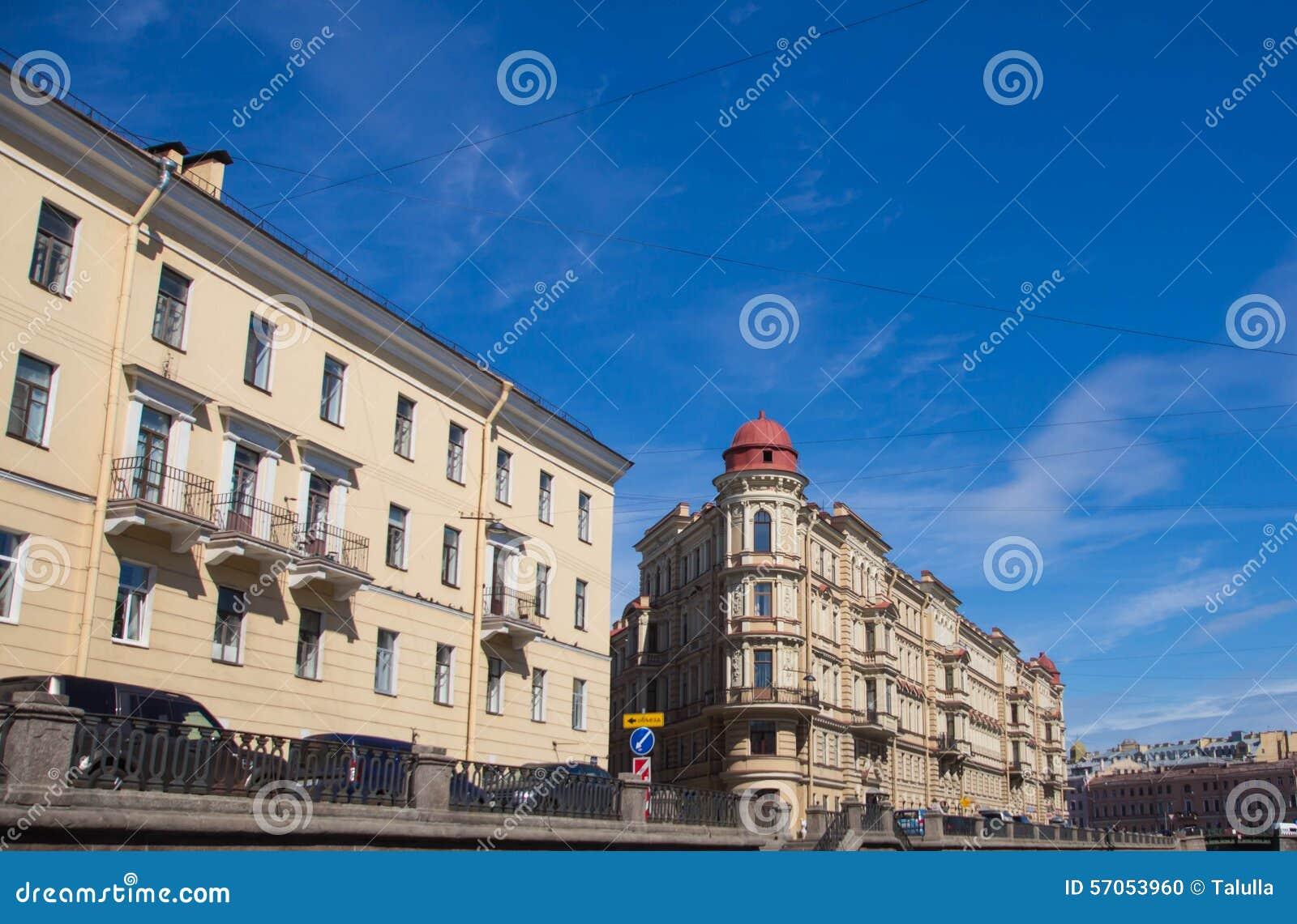 St. Petersburg, mening van de stad van het kanaal