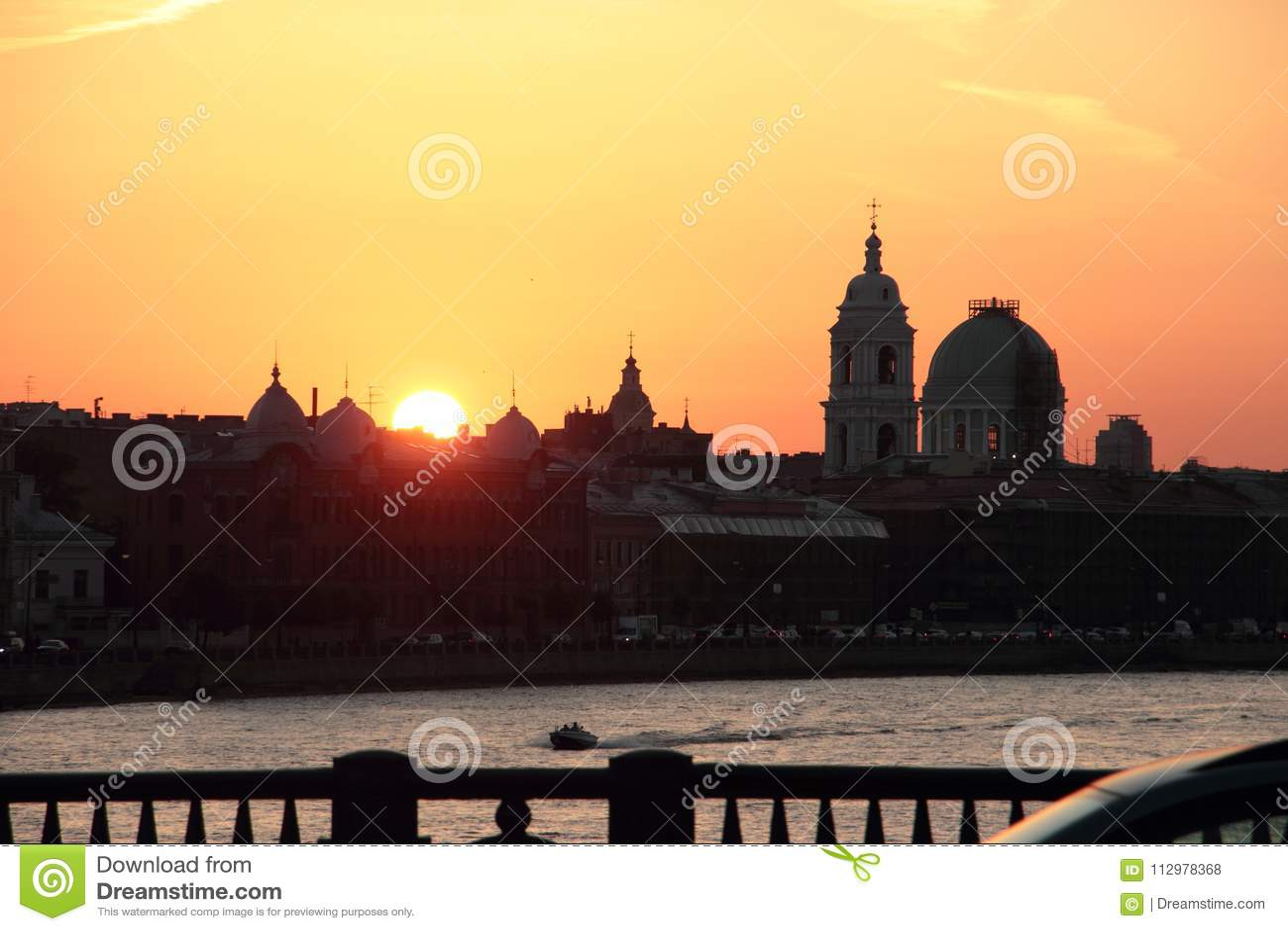 St. Petersburg, Neva River, Sunset
