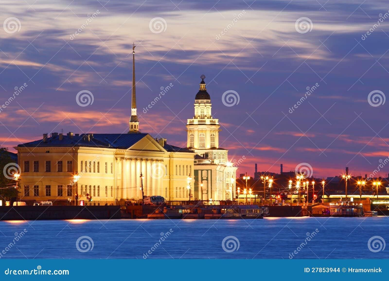 St. Petersburg noc widok