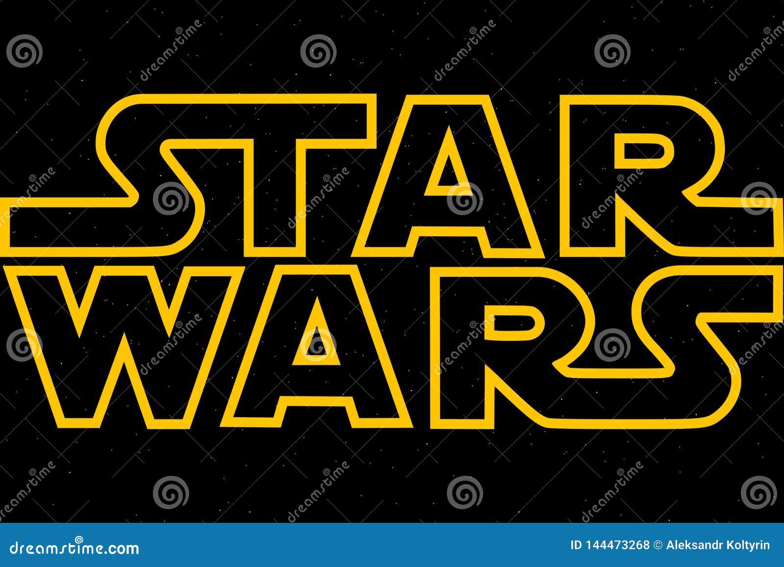 ST PETERSBURG, RÚSSIA - 6 DE ABRIL DE 2019: Os Star Wars são o título da trilogia e do nono episódio Editorial ilustrativo