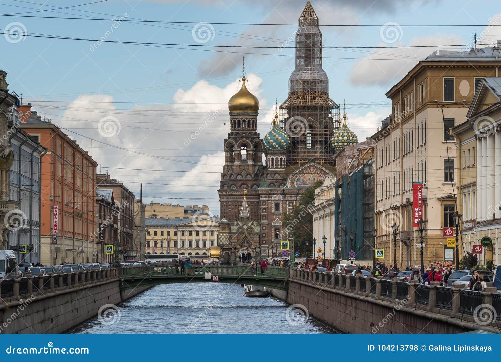 St Petersburg Rosja, Wrzesień, - 21, 2017: Kościół wybawiciel na krwi